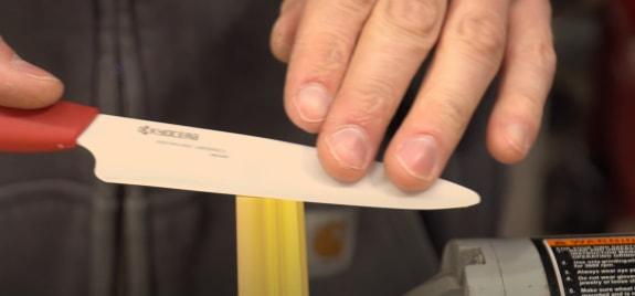 How do you sharpen ceramic knives