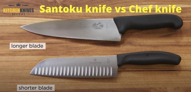 Santoku knife vs Chef knife | Differences | KNR