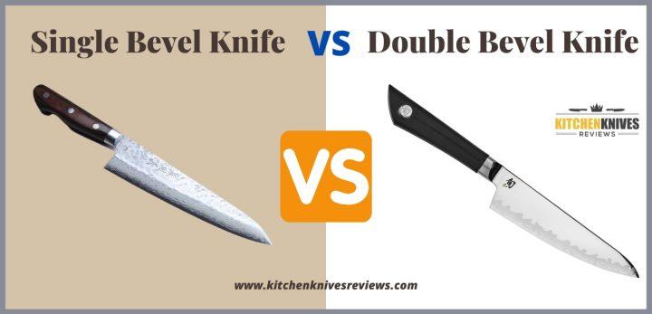 Single Bevel Knife vs Double Bevel Kitchen Knife